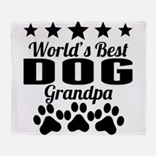 World's Best Dog Grandpa Throw Blanket