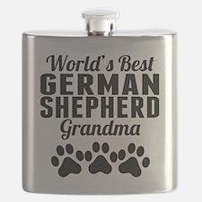 World's Best German Shepherd Grandma Flask