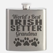 World's Best Irish Setter Grandma Flask