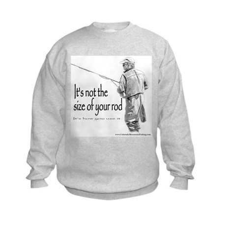 Its not the size of your rod Kids Sweatshirt