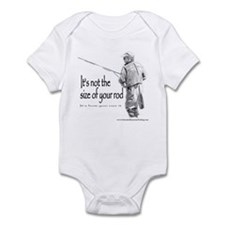 Its not the size of your rod Infant Bodysuit
