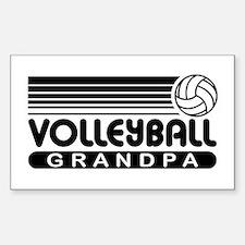 Volleyball Grandpa Decal