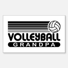 Volleyball Grandpa Sticker (Rectangle)