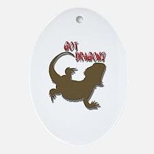 Funny Bearded dragon Oval Ornament