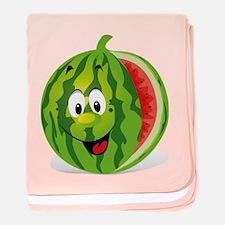 Cute Smiling Cartoon Watermelon baby blanket