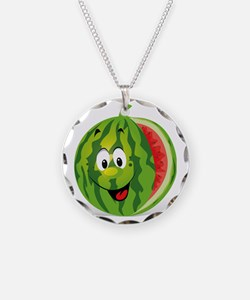 Cute Smiling Cartoon Waterme Necklace