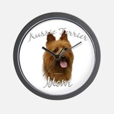 Aussie Terrier Mom2 Wall Clock