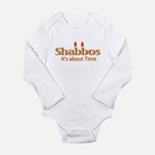 Cute First chanukah happy hanukkah jewish Long Sleeve Infant Bodysuit