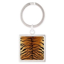 TIGER FUR Square Keychain