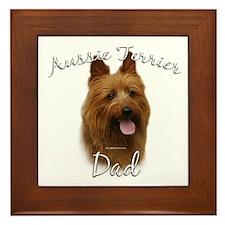 Aussie Terrier Dad2 Framed Tile