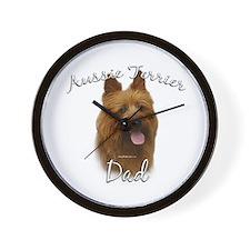 Aussie Terrier Dad2 Wall Clock