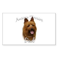 Aussie Terrier Dad2 Rectangle Decal