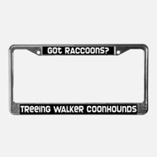 got raccoons? TW Coonhound License Plate Frame