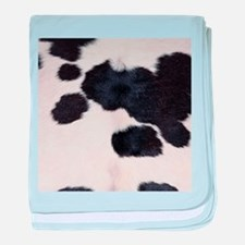 SPOTTED COW HIDE baby blanket