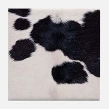 SPOTTED COW HIDE Tile Coaster