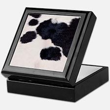 SPOTTED COW HIDE Keepsake Box
