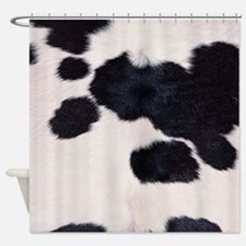 SPOTTED COW HIDE Shower Curtain