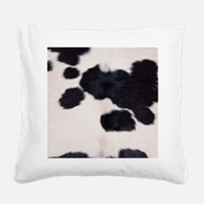 SPOTTED COW HIDE Square Canvas Pillow