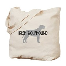 Irish Wolfhound w/ Text #3 Tote Bag