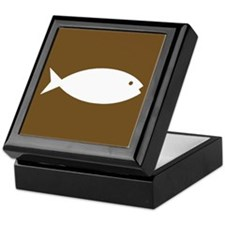 Fishing Sign Keepsake Box
