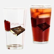 HookandBook Drinking Glass