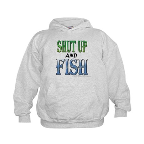 Shut Up and Fish Kids Hoodie