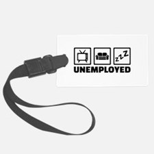 Unemployed couch tv Luggage Tag