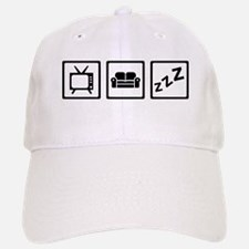 Relaxing couch television snore Baseball Baseball Cap