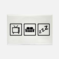 Relaxing couch television snore Rectangle Magnet