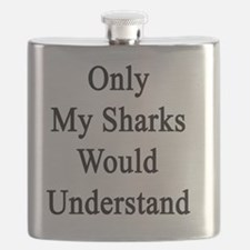 Funny Shark lovers Flask