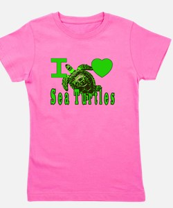 For turtles Girl's Tee