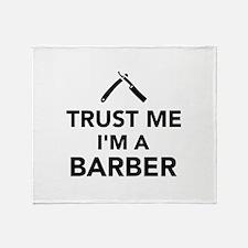 Trust me I'm a Barber Throw Blanket