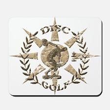 Disc Golf Discus Stone Glyph Original Mousepad