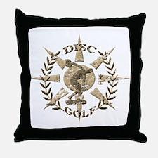 Disc Golf Discus Stone Glyph Original Throw Pillow