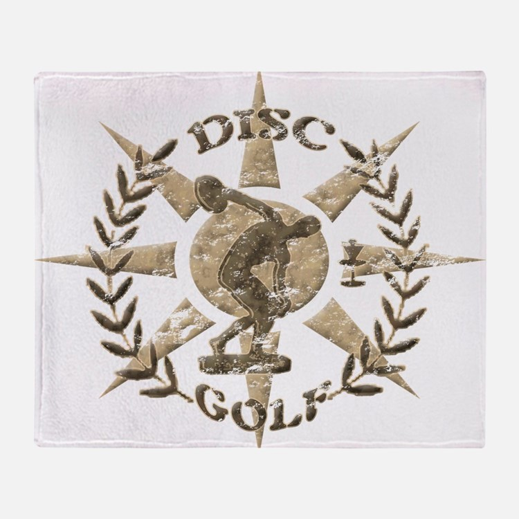Disc Golf Discus Stone Glyph Origina Throw Blanket