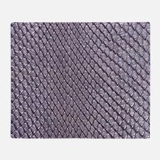 SILVER SNAKE SKIN Throw Blanket