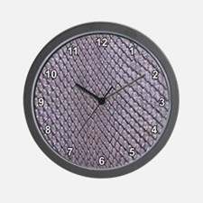 SILVER SNAKE SKIN Wall Clock
