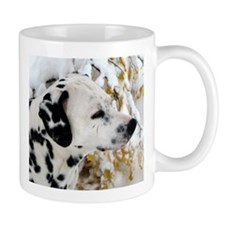Dalmatian in the snow Mug