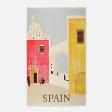 Spain Vintage Travel Poster Area Rug
