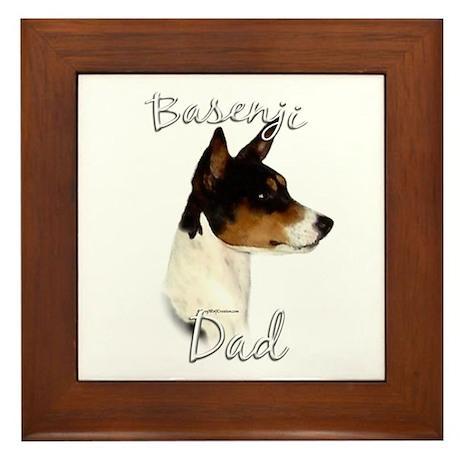 Basenji Dad2 Framed Tile