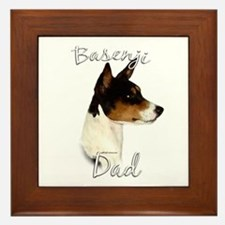Basenji Dad2 Framed Tile