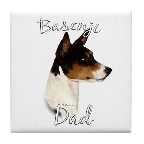 Basenji Dad2 Tile Coaster