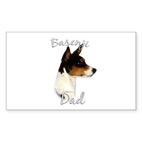 Basenji Dad2 Rectangle Sticker