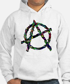 Melting Color Anarchy Symbol Hoodie