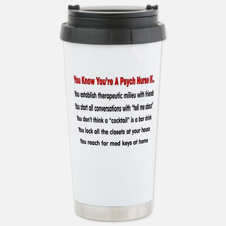 Cute Psych nurse Travel Mug