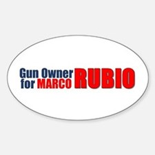 Gun Owner for Marco Rubio bumper sticker Decal
