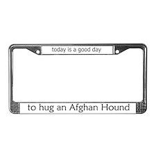 Hug an Afghan Hound License Plate Frame