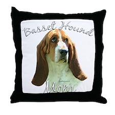 Basset Mom2 Throw Pillow