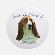 Basset Mom2 Ornament (Round)
