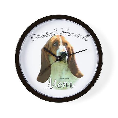 Basset Mom2 Wall Clock